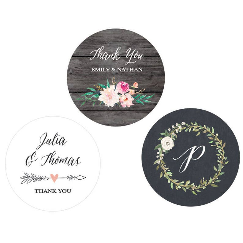 Wedding Favor Stickers Wedding Labels Personalized Stickers Wedding Custom Labels for Wedding Favor Labels STICKERS EB4007GDN-MP 24