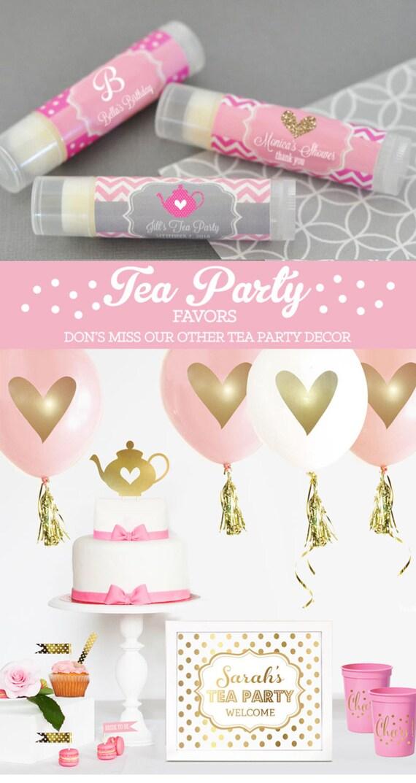 Tea Party Favors Tea Party Baby Shower Tea Party Favors Etsy