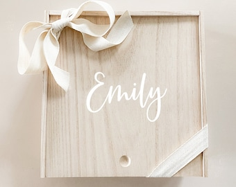 Bridesmaid Gift Box Personalized Wooden Gift Boxes Wood Bridesmaids Proposal Box Will you be my Bridesmaid Box with Names  (EB3459P) EMPTY