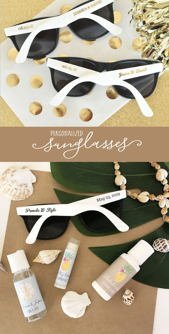 5e1214052ff Summer Wedding Favors Outdoor Wedding Sunglasses Personalized