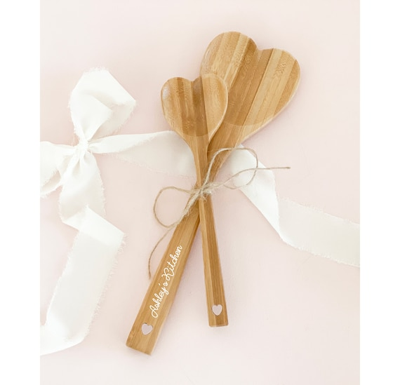 Personalized Wooden Spoon Set Custom Kitchen Baking Gift