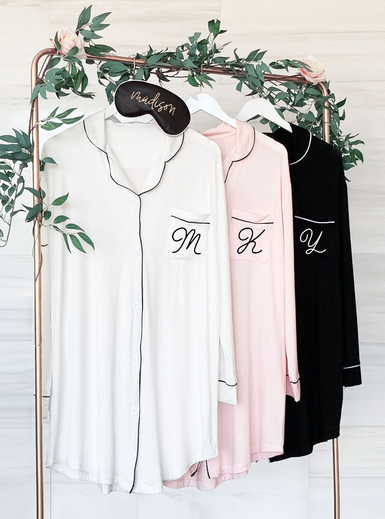 Bridesmaid Button Down Shirts Bridesmaid Sleep Shirts image 0