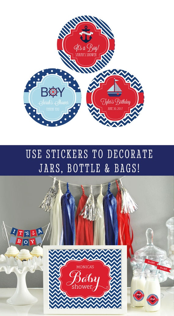 Nautical Stickers 1st Birthday Party Ideas