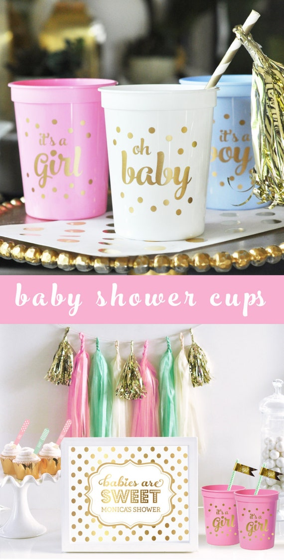 Its A Girl Baby Shower Decorations For Girl Pink Baby Shower Etsy