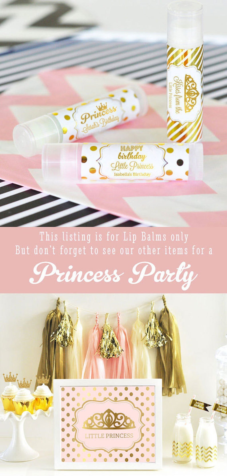 Princess Party Favors Birthday Pink