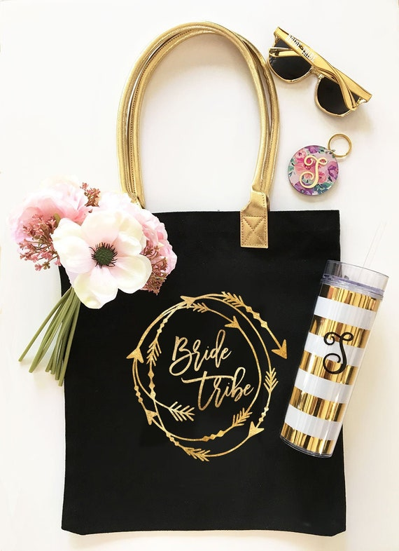 brides tribe arrow bachelorette tote bags black brides tribe bachelorette bags bachelorette party totes