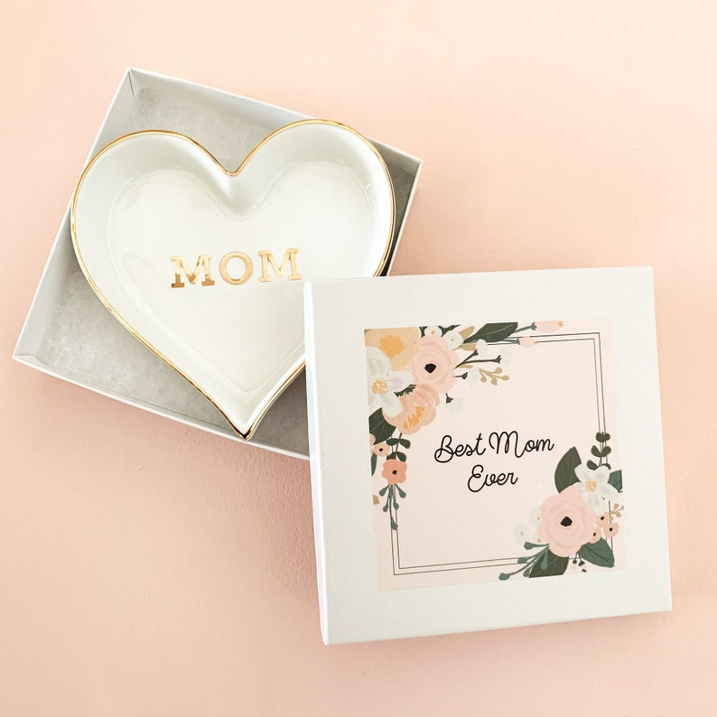 Mom Ring Dish  Best Mom Ever Gift Ideas for Mom  Mothers Day image 0