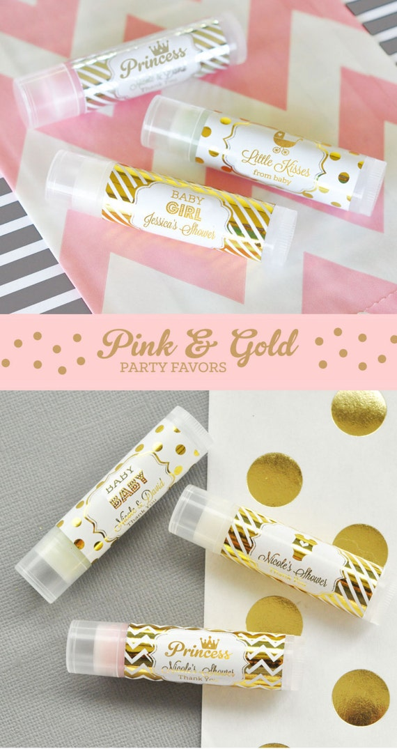 Pink And Gold Party Favors Pink And Gold Baby Shower Ideas