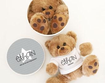 Ring Bearer Proposal Bear Ring Bearer Gift Ideas Ring Bearer Proposal for Baby Ring Bearer Stuffed Animal Gift Paige Boy Gift (EB3272CT)