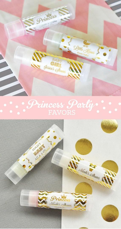 Princess Baby Shower Favor Lip Balms Princess Party Favors