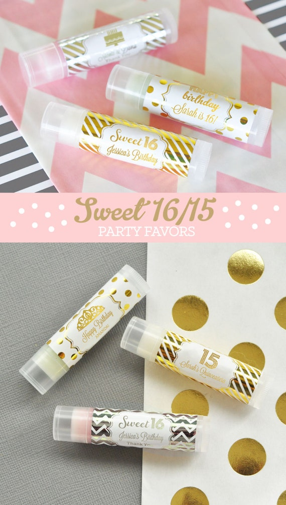 Sweet 16 Favors Sweet Sixteen Party Favors Sweet 16 Party Etsy