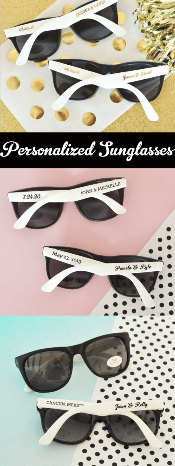 Beach Theme Wedding Favors Beach Theme Bridal Shower Favors Personalized Sunglasses Sunglass Favors  (EB3107) - SET of 24| Sunglasses