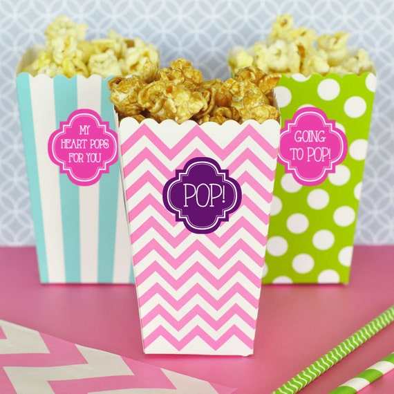 Going To Pop Popcorn Boxes Baby Shower Popcorn Boxes Etsy