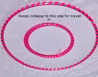 Adult 1.5 lb. Weighted Beginner Hula Hoops Get Your Middle Little Fun Dance Fitness travel choose color & size sm 36, med 38 or large 40