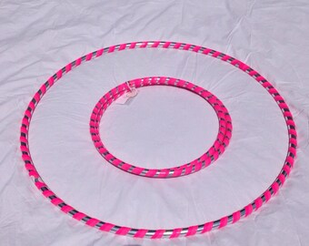 """Adult 2 lb Hula Hoop Fitness Exercise Fun Dance """"Get Your Middle Little"""" Collapsible Travel Weighted Stylish Carrying opens to full size!"""