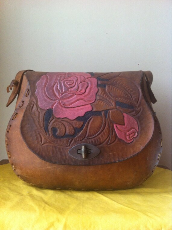 Handmade Purse Rose Print