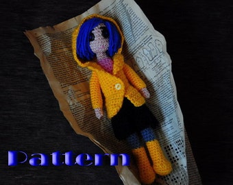 PDF Pattern - Coraline doll (crochet amigurumi doll)