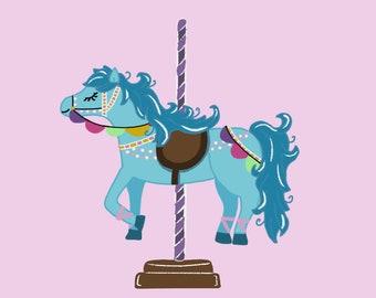 Carousel Horse Print