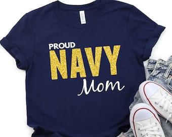 Proud Navy Mom Shirt, Navy Mom Gift, Navy PIR Shirt, Boot Camp Graduation Shirt, Gift for Navy Mom, Navy Family Shirt