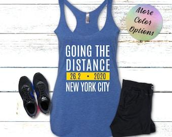 NYC Marathon City Fitness Run New York V3 Long Sleeve T-shirt LS Youth Men