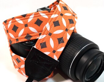 DSLR Camera Strap, Orange Camera strap, Nikon Camera Strap, Canon Camera Strap, Graduation Gift, Wedding Gift, Travel