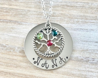 Nana Necklace, Family Tree With Birthstones, Grandma Necklace,Necklace For Nana,Nana Necklace,Gift For Nana,Mothers Day Necklace, Nana Gift