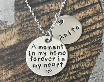 Foster Mom Gift Foster Mom Necklace Foster Gift Mom Gift Adoption Gift A Moment in My Home Foster Mom Jewelry Adoption Jewelry
