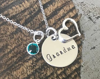 Grandma Gift Mom Necklace Gift Nana Necklace Mom Jewelry Mothers Day Gift Gift for Mom Christmas Jewelry New Grandma Gift Personalized Gift