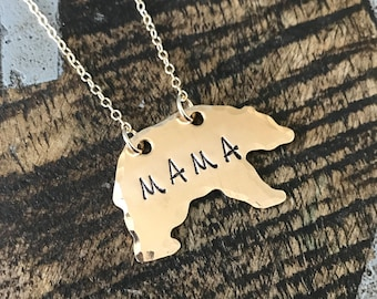 Bear Necklace Mama Bear Necklace Gifts for Mom Gift Valentine's Day Gift For Wife Gift Jewelry Wife Mother's Day Birthday Remembrance Option