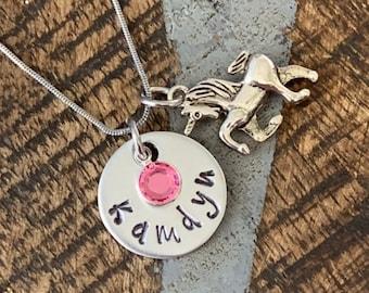 Girls unicorn Necklace Unicorn Jewelry Name Necklace Unicorn Lover Gift Birthday Necklace Girls Christmas Gift