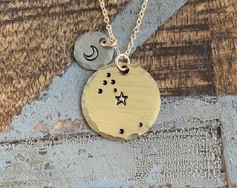 Zodiac Jewelry Gold Constellation Necklace Zodiac Necklace Celestial Jewelry Taurus Necklace Gift for her Zodiac Gift Taurus Jewelry