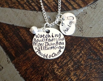 Handstamped Necklace Custom Necklace Personalized Quote Necklace Sentimental Jewelry Gift for Friend Cheerleading Necklace Handstamped Quote