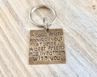 Best Friends Forever Best Friend Keychain Friend Keychain Personalized Keychain Handstamped Keychain Gift for Best Friend Friend Gift