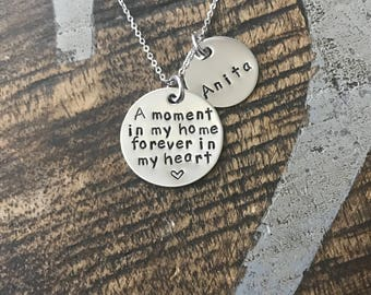 FREE SHIP USA Foster Mom Gift Foster Mom Necklace Foster Gift Mom Gift Adoption Gift A Moment in My Home Foster Mom Jewelry Adoption Jewelry