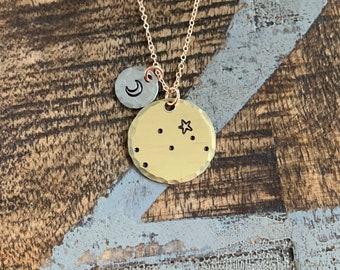 Zodiac Jewelry Gold Constellation Necklace Zodiac Necklace Celestial Jewelry Gemini Necklace Gift for her Zodiac Gift Gemini Jewelry