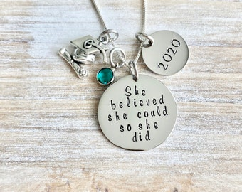 Custom Gift Graduation Necklace Graduation Gift 2019 Class of 2019 Graduation Jewelry For Teenage Girl Unique Necklace Graduate Necklace