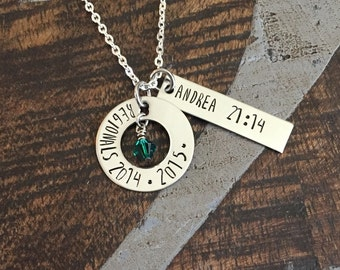Cross Country Necklace Handstamped Necklace Personalized Running Jewelry School Team XC Track Coach Gift Varsity JV Invitational