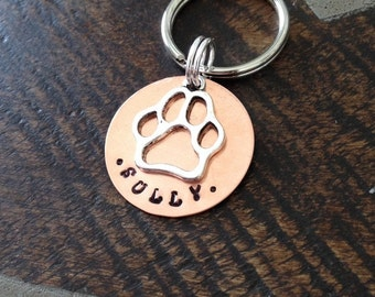 Pet Tag Handstamped Dog Tag Dog ID Tag Pet Tag for Dogs Custom Dog Tag Copper Dog ID Tag Handstamped Pet Tag Personalized Dog Tag