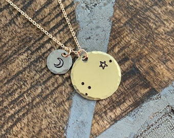 Zodiac Jewelry Gold Constellation Necklace Zodiac Necklace Celestial Jewelry Aries Necklace Gift for her Zodiac Gift Aries Jewelry