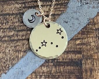 Zodiac Jewelry Gold Constellation Necklace Zodiac Necklace Celestial Jewelry virgo Necklace Gift for her Zodiac Gift virgo Jewelry