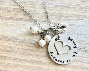 Infant Loss Necklace Forever in my heart Necklace Sympathy Gift Sympathy Necklace Memorial Necklace Memorial Jewelry Miscarriage Necklace