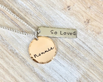 Nonnie Necklace, Nonnie Present, Best Nonnie, Necklace Gift, Jewelry for Nonnie, New Grandma To Be, So Loved Necklace