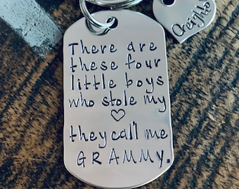 This Girl Stole My Heart Keychain Daddy Keychain Handstamped Keychain Gift for New Dad Dad Keychain These Girls Stole my Heart Fathers Day