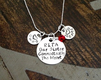 Sister Necklace  Hand Stamped Sister Jewelry Personalized Necklace Handstamped Necklace Gift for Sister Sister Quote Jewelry Custom Necklace