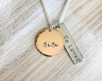 GiGi Necklace,Gigi Gift,Gigi Necklace, Gigi Jewelry,Mother's Day Gift for Grandma, So Loved Necklace, GiGi Birthday