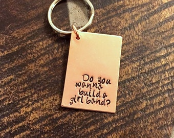 Quote Keychain Special Message Keychain Handstamped Keychain Personalized Keychain Custom Keychain Copper Keychain Gift Keychain