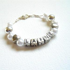Birthday gift ideas for girl name jewelry Name bracelet silver personalized bolo bracelet Custom Baby name bracelet