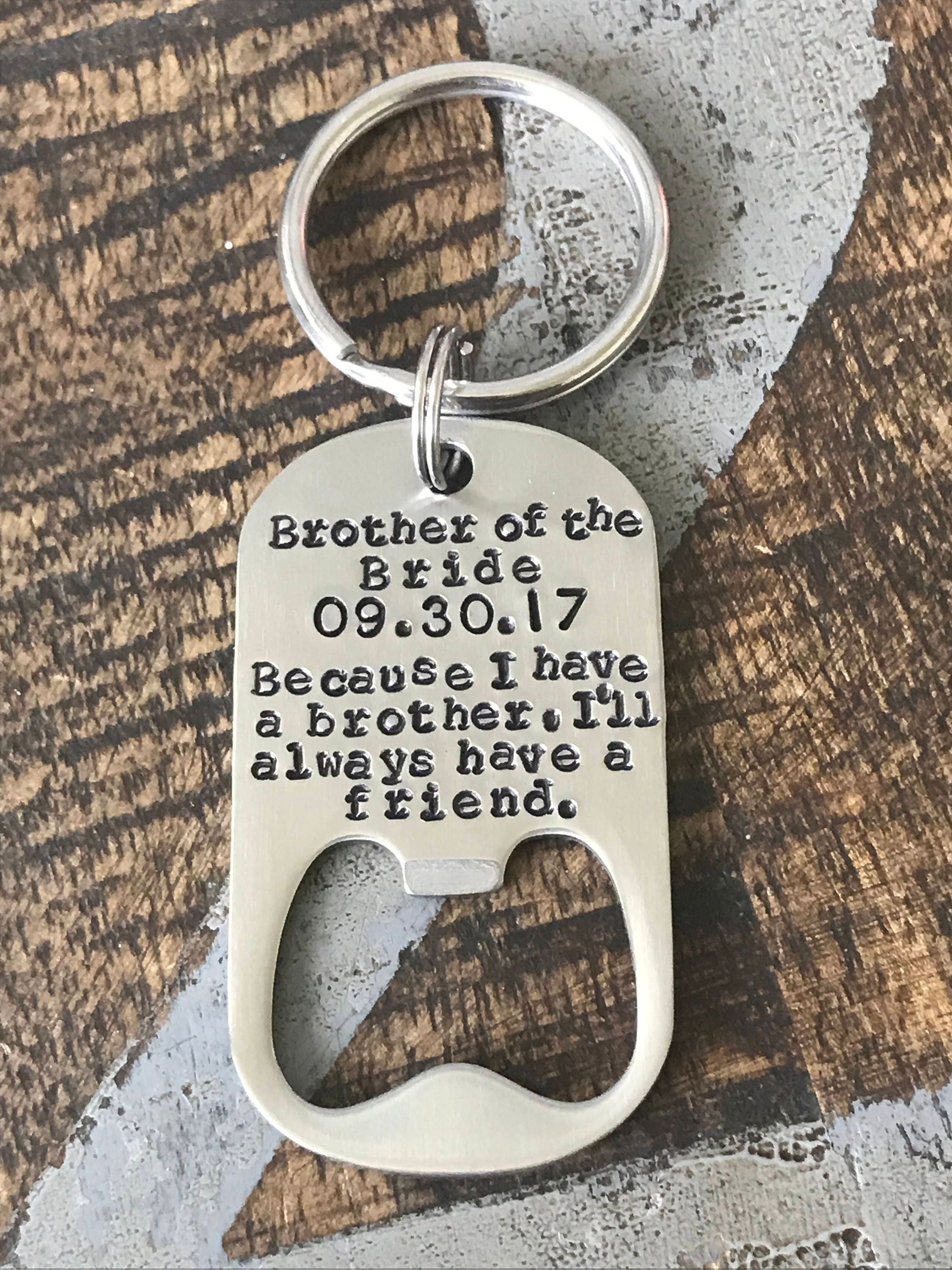 Free Ship Usa Brother Of The Bride Gift Bottle Opener Brother Gift
