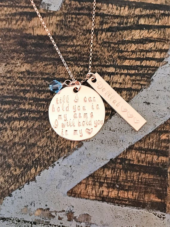 Loss of child gift. Custom miscarriage gift Personalized infant loss memorial necklace Hand stamped memorial gift Stillbirth gift