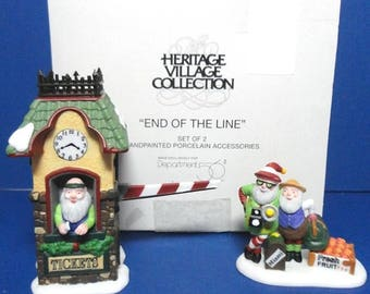 Dept 56 End of the Line North Pole Retired Accessories